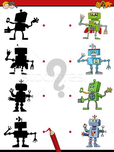 shadow game with robots Stock photo © izakowski