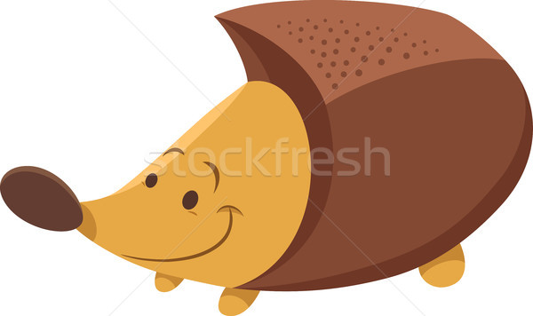 cute hedgehog cartoon animal character Stock photo © izakowski
