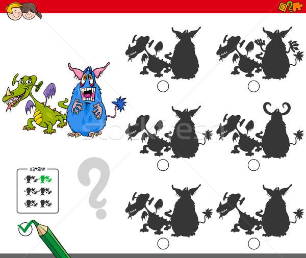 educational shadow game with monsters Stock photo © izakowski