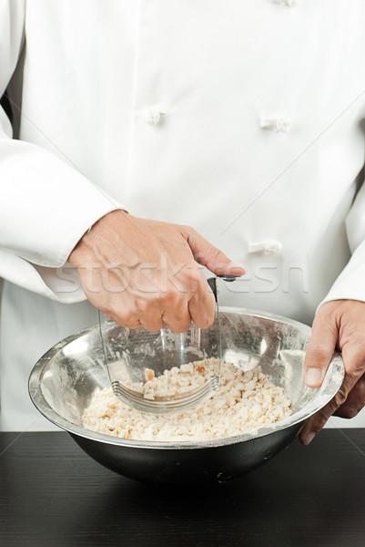 Chef gebak restaurant baan kok Stockfoto © jackethead