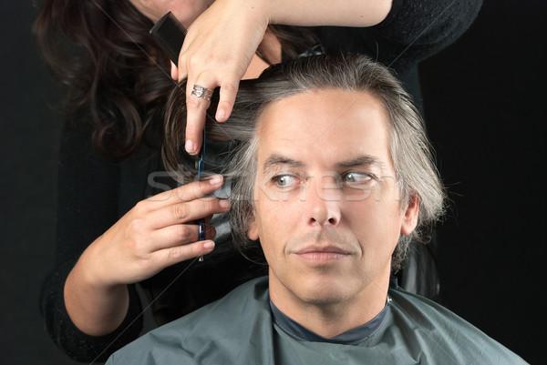 Styliste longueur cheveux Photo stock © jackethead