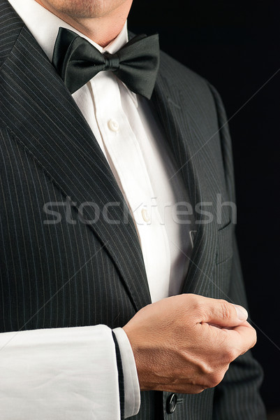 Fine Dining Waiter, Side View Stock photo © jackethead