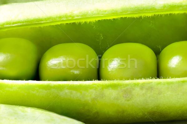 Stockfoto: Open · vers · peul · macro · blad