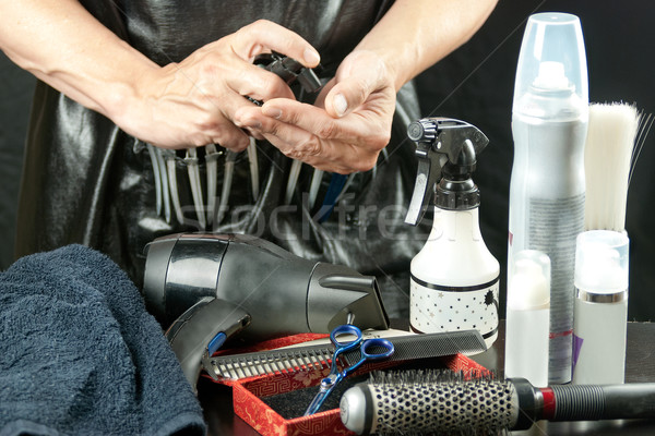 Stylist With Tools Stock photo © jackethead