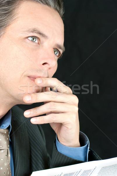 ビジネスマン ルックス オフ カメラ クローズアップ ストックフォト © jackethead