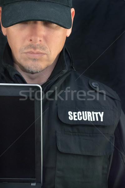 セキュリティ ノートパソコン 表示 クローズアップ ストックフォト © jackethead
