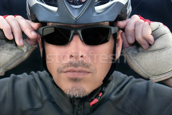Vélo courrier casque homme fitness Photo stock © jackethead