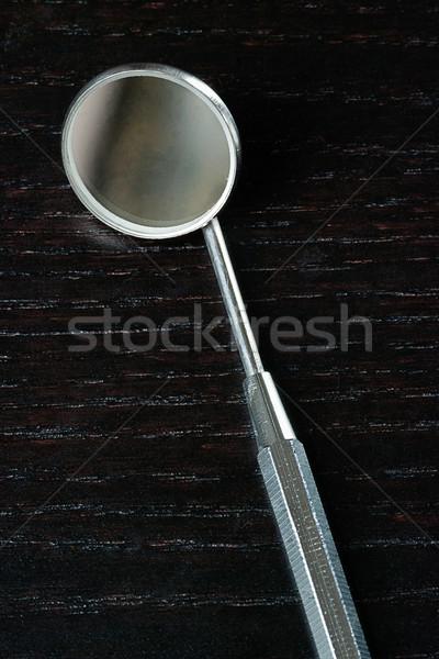 歯科 ミラー 近い クローズアップ 健康 歯 ストックフォト © jackethead