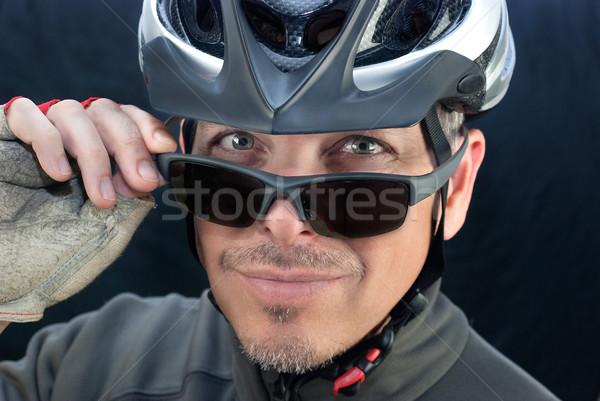 優しい 自転車 クーリエ ルックス サングラス クローズアップ ストックフォト © jackethead