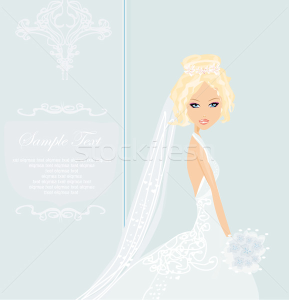Beautiful bride card  Stock photo © JackyBrown