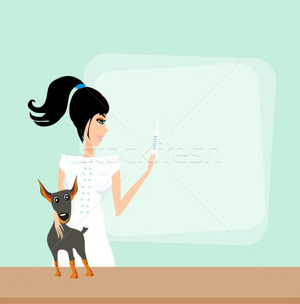 獣医 動物 医師 女性 少女 作業 ストックフォト © JackyBrown