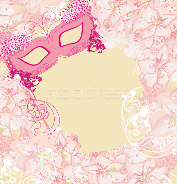 Carnival Mask - abstract floral card Stock photo © JackyBrown