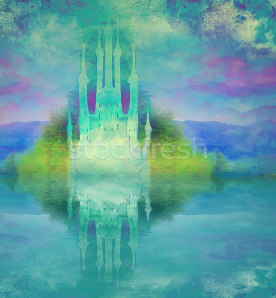 abstract fairytale castle Stock photo © JackyBrown