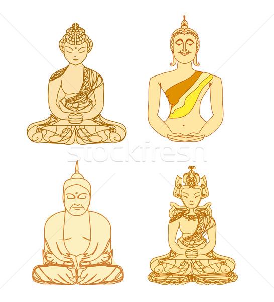 Wektora chińczyk tradycyjny artystyczny buddyzm wzór Zdjęcia stock © JackyBrown