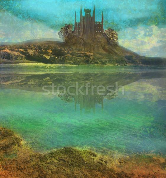 Landscape with old castle  Stock photo © JackyBrown