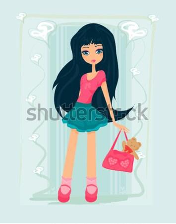 ショッピング ファッション 若い女の子 女性 セクシー 幸せ ストックフォト © JackyBrown