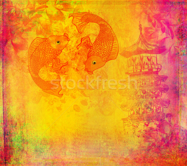 japanese koi background  Stock photo © JackyBrown
