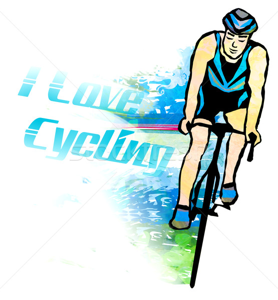 Amore ciclismo banner abstract panorama blu Foto d'archivio © JackyBrown