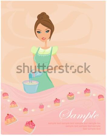 Oktoberfest waitress card Stock photo © JackyBrown