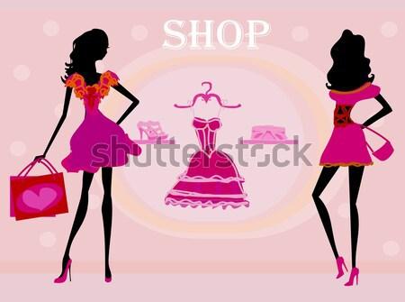 моде девочек торговых женщину Sexy аннотация Сток-фото © JackyBrown