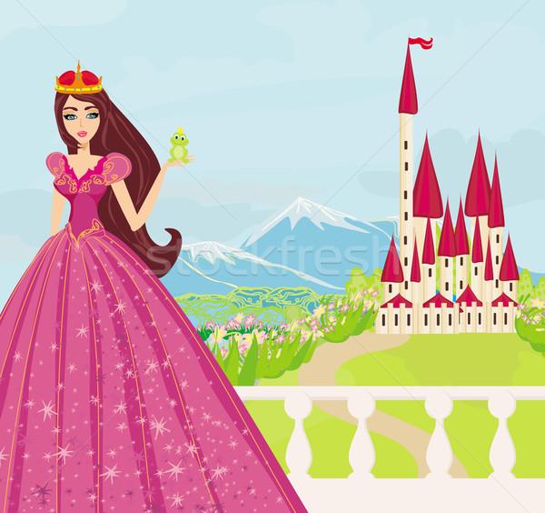 Сток-фото: красивой · молодые · Принцесса · большой · лягушка