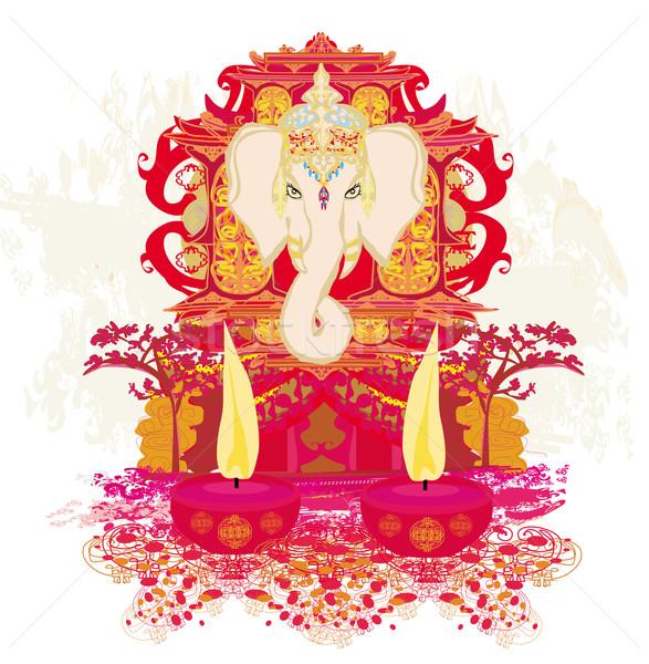 Diwali Ganesha Design  Stock photo © JackyBrown