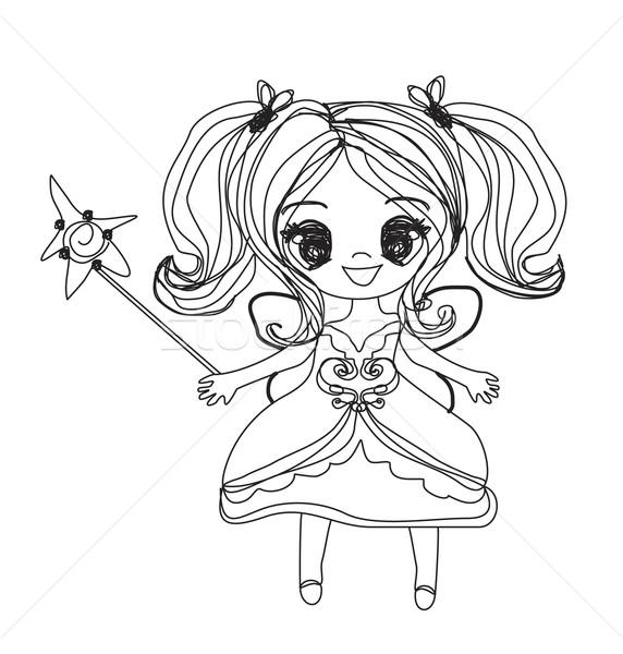 красивой мало фея болван вектора графических Сток-фото © JackyBrown