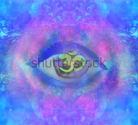 Illustration of a third eye mystical sign  Stock photo © JackyBrown
