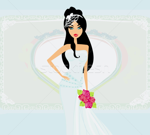 beautiful bride on an abstract background Stock photo © JackyBrown