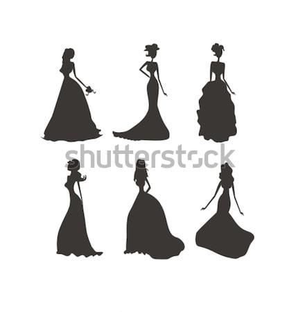Bride silhouettes set  Stock photo © JackyBrown