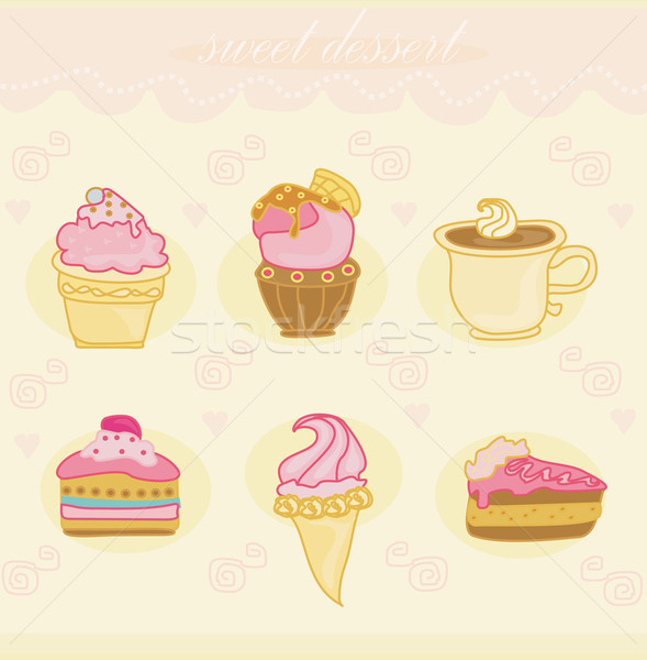 sweet dessert set background  Stock photo © JackyBrown