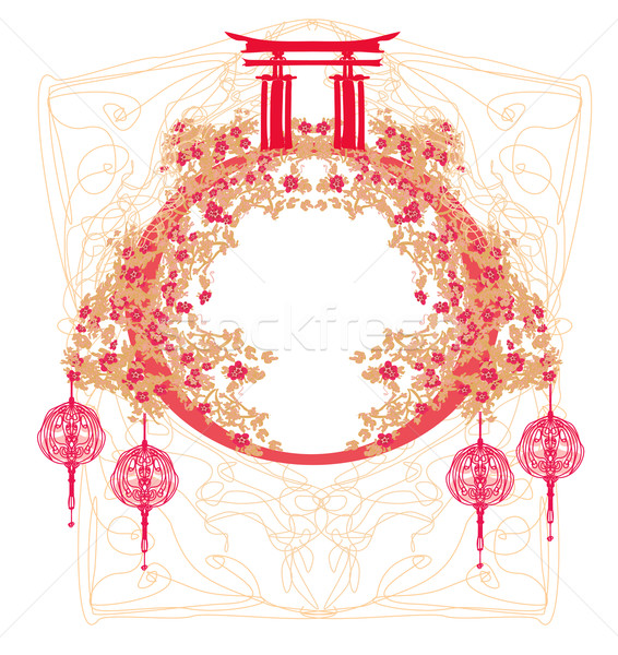 Chinese Mid Autumn festival and New year design element  Stock photo © JackyBrown