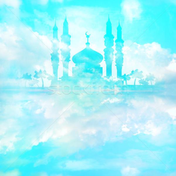 Tarjeta paisaje wallpaper dios mezquita Foto stock © JackyBrown