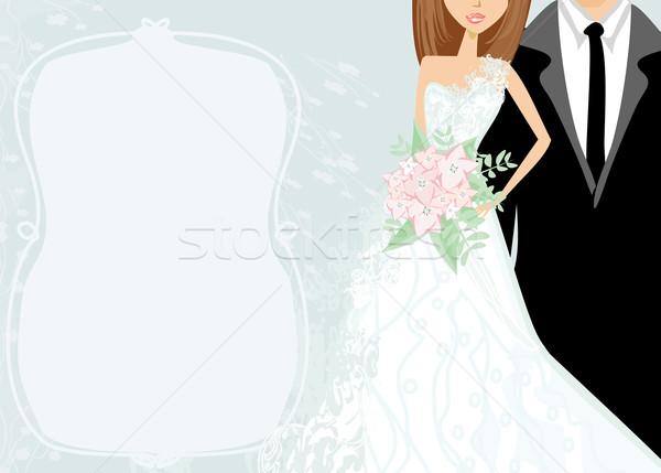 funny wedding invitation card  Stock photo © JackyBrown