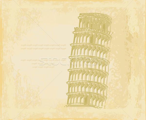 Bağbozumu vektör kule dizayn haber posta Stok fotoğraf © JackyBrown
