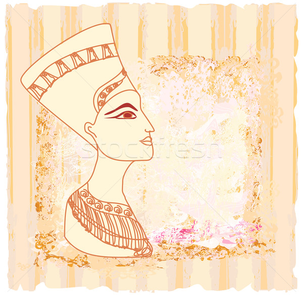 old paper with Egyptian queen cleopatra Stock photo © JackyBrown