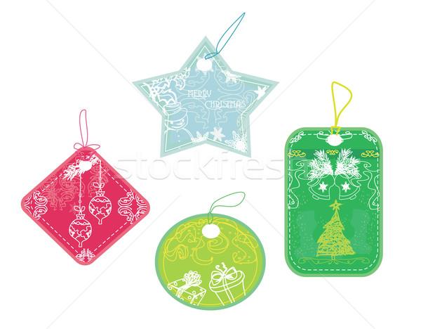 Noel fiyat toplama alışveriş hediye Stok fotoğraf © JackyBrown