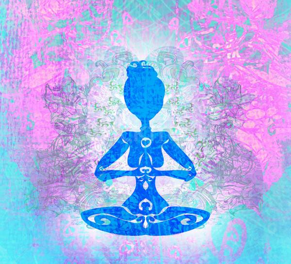 Yoga spiritualité soleil coucher du soleil beauté gymnase Photo stock © JackyBrown