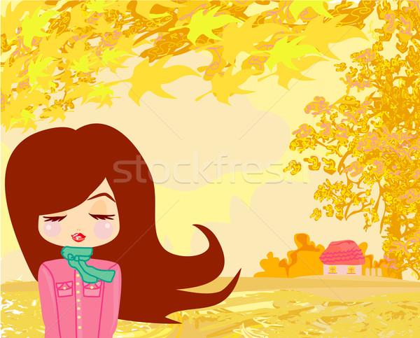 beautiful girl in autumn  Stock photo © JackyBrown