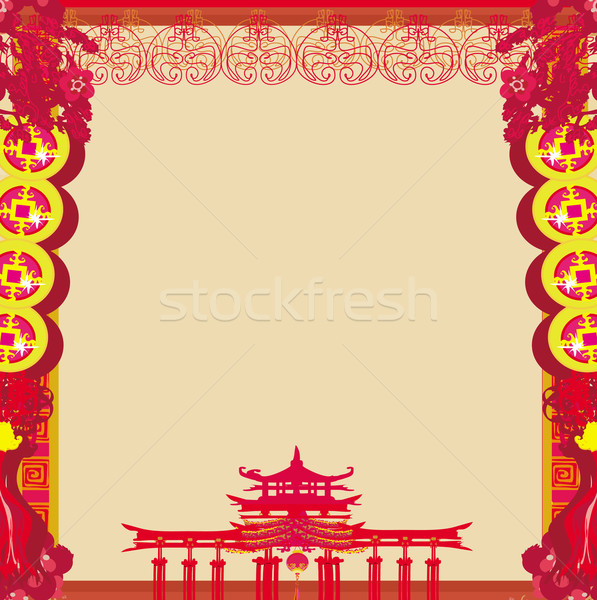 Mid-Autumn Festival for Chinese New Year - frame Stock photo © JackyBrown
