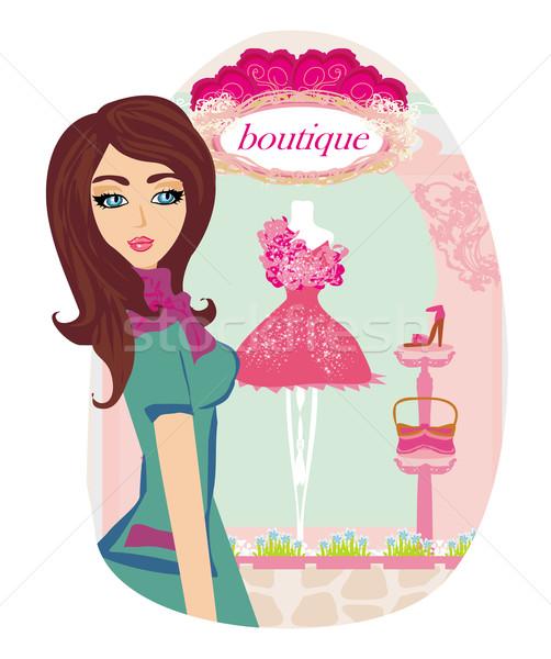 Elegante boutique mulher mão olho moda Foto stock © JackyBrown