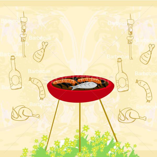 Barbecue Party Invitation  Stock photo © JackyBrown