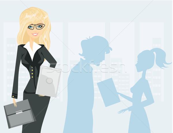 Hermosa mujer de negocios negocios oficina Foto stock © JackyBrown