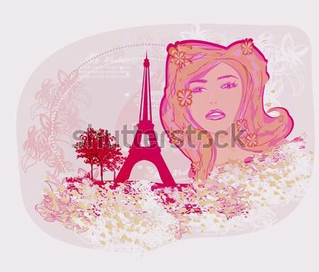 Güzel kadın alışveriş Fransa İtalya sevmek Stok fotoğraf © JackyBrown