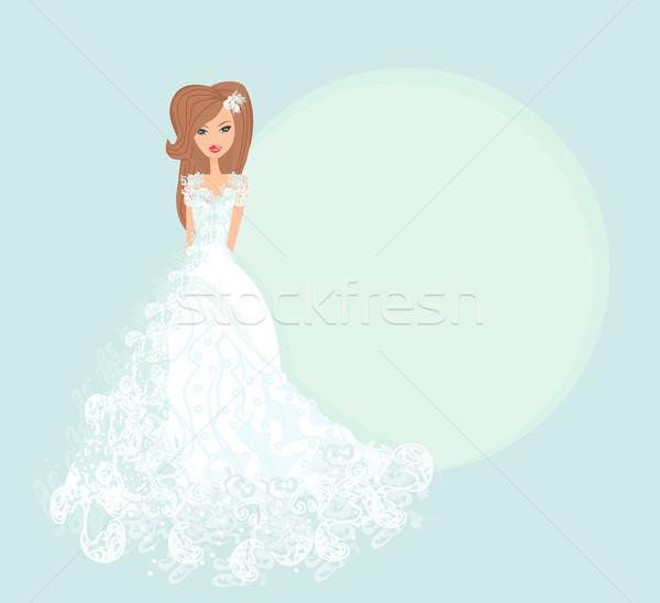 Beautiful bride card Stock photo © JackyBrown