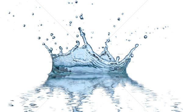 Réflexion isolé blanche eau résumé Photo stock © Jag_cz