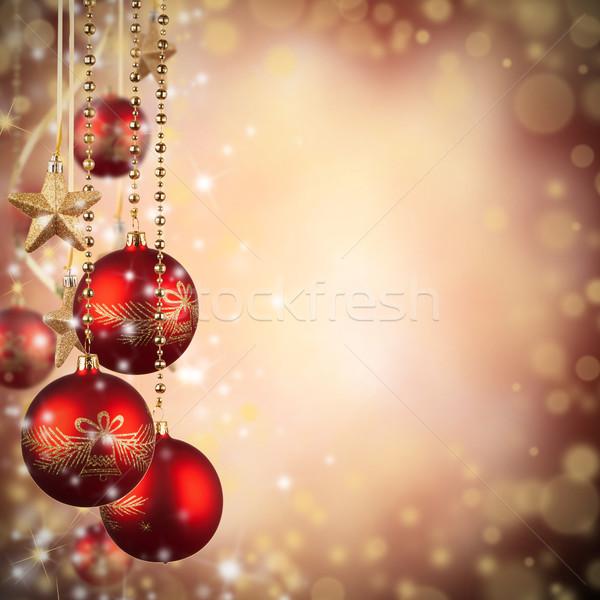 Noël rouge verre libre espace Photo stock © Jag_cz