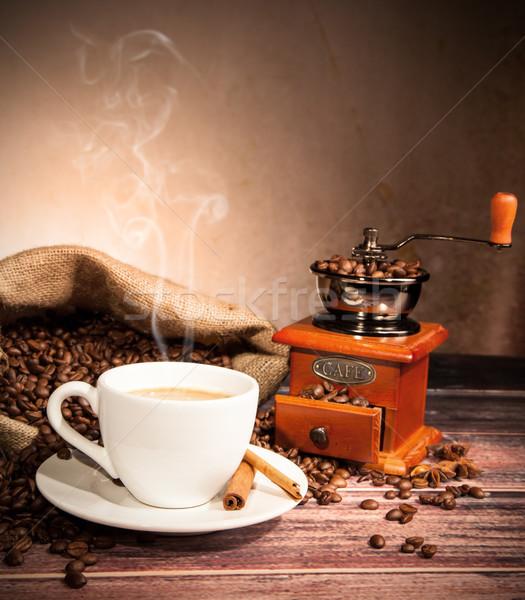 コーヒー 静物 木製 グラインダー テクスチャ 食品 ストックフォト © Jag_cz