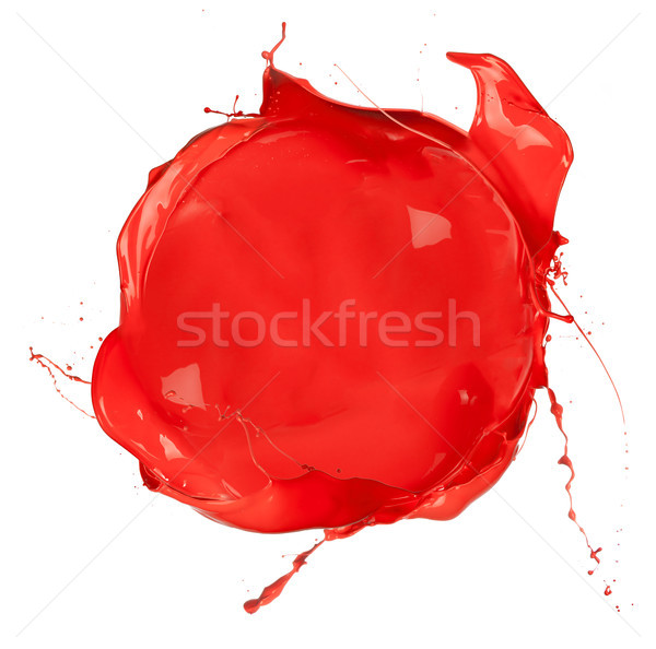 Isolated shot of red paint blob on white background  Stock photo © Jag_cz
