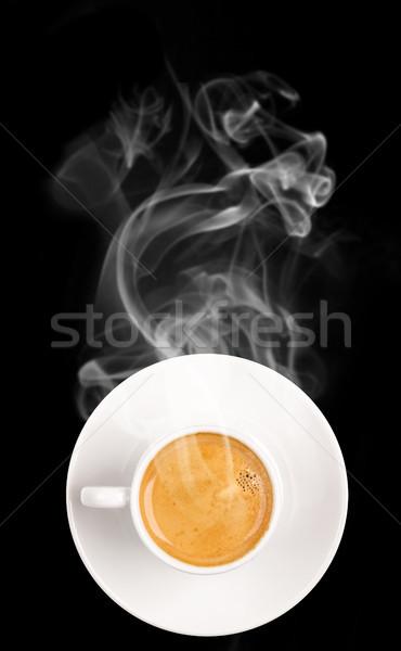 Tasse de café café alimentaire déjeuner tasse blanche Photo stock © Jag_cz